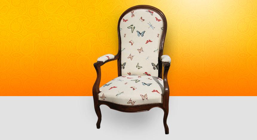 Fauteuil voltaire charivari et compagnie tapissier d - Restauration fauteuil voltaire ...